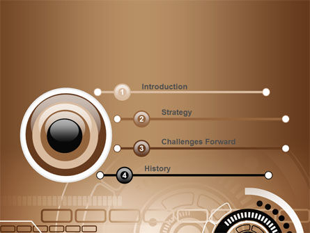 Brown Circle PowerPoint Template Slide 3