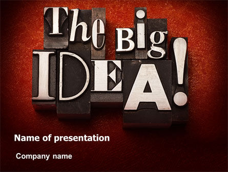 The Big Idea PowerPoint Template