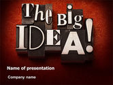 Consulting: The Big Idea PowerPoint Template #07522