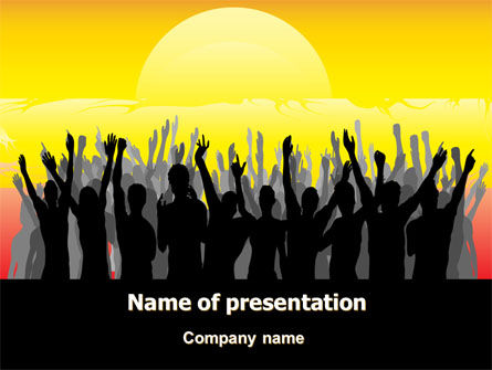 Sun Worship PowerPoint Template, 07524, People — PoweredTemplate.com