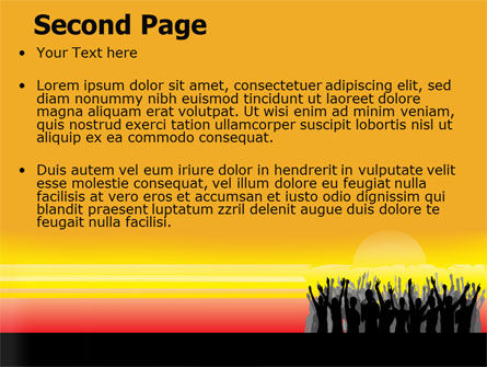 Sun Worship PowerPoint Template, Slide 2, 07524, People — PoweredTemplate.com