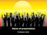 People: Sun Worship PowerPoint Template #07524