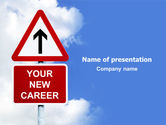 Careers/Industry: New Career PowerPoint Template #07525