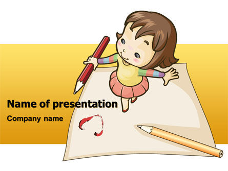 Education & Training: Modelo do PowerPoint - arte para crianças #07527