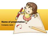 Education & Training: 子供アート - PowerPointテンプレート #07527