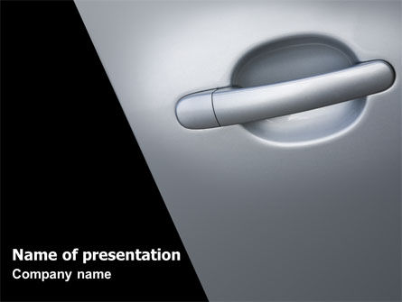 Careers/Industry: Car Door PowerPoint Template #07528