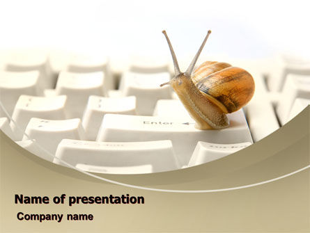 Computers: Sluggish Snail PowerPoint Template #07531