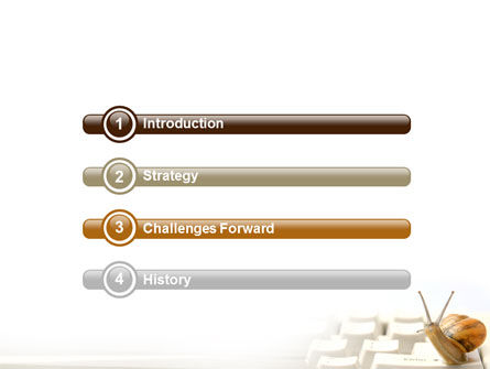 Sluggish Snail PowerPoint Template Slide 3