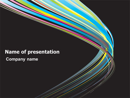 Abstract Colorful Stripes PowerPoint Template, 07532, Abstract/Textures — PoweredTemplate.com
