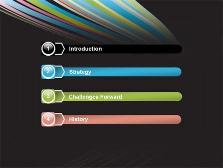 Abstract Colorful Stripes PowerPoint Template, Slide 3, 07532, Abstract/Textures — PoweredTemplate.com