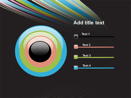 Abstract Colorful Stripes PowerPoint Template Slide 9