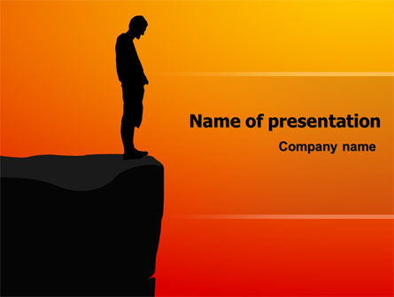 Chasm PowerPoint Template, 07533, Consulting — PoweredTemplate.com