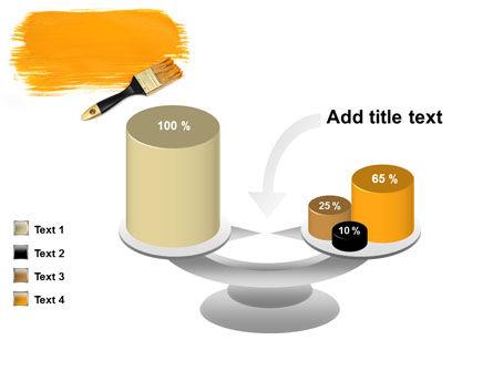 Yellow Paint Brush PowerPoint Template Slide 10