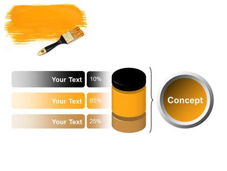 Yellow Paint Brush PowerPoint Template Slide 11