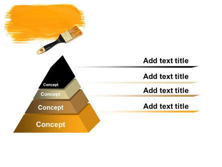 Yellow Paint Brush PowerPoint Template Slide 12