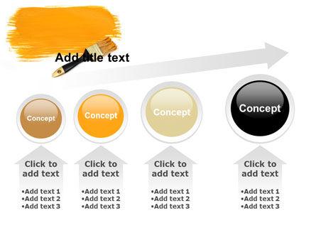 Yellow Paint Brush PowerPoint Template Slide 13