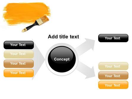 Yellow Paint Brush PowerPoint Template Slide 14