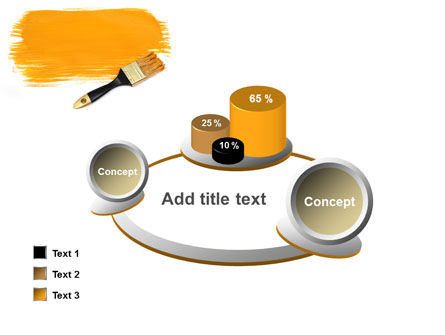 Yellow Paint Brush PowerPoint Template Slide 16