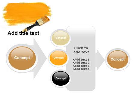 Yellow Paint Brush PowerPoint Template Slide 17