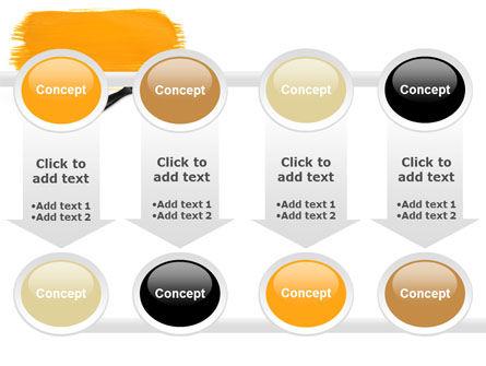Yellow Paint Brush PowerPoint Template Slide 18