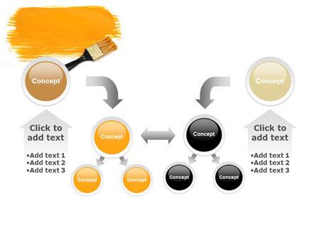 Yellow Paint Brush PowerPoint Template Slide 19