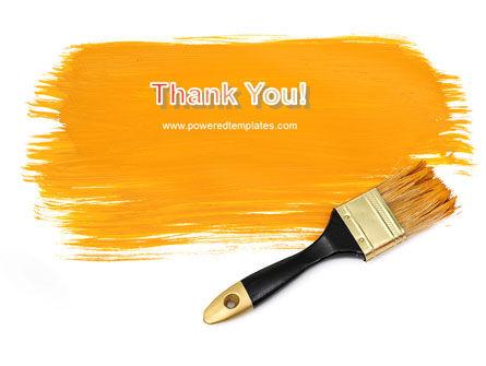Yellow Paint Brush PowerPoint Template Slide 20