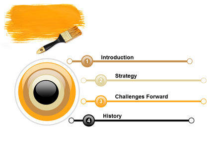 Yellow Paint Brush PowerPoint Template, Slide 3, 07536, Careers/Industry — PoweredTemplate.com