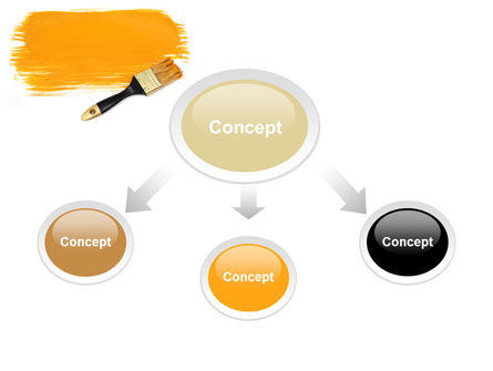 Yellow Paint Brush PowerPoint Template, Slide 4, 07536, Careers/Industry — PoweredTemplate.com