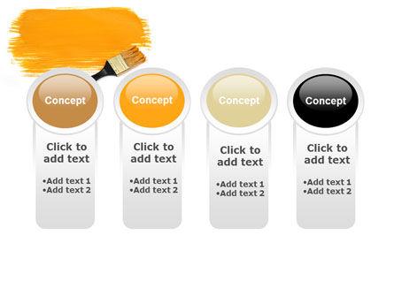 Yellow Paint Brush PowerPoint Template Slide 5