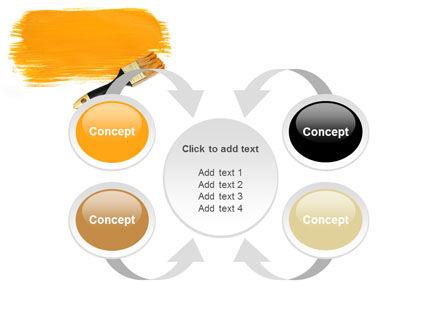 Yellow Paint Brush PowerPoint Template Slide 6