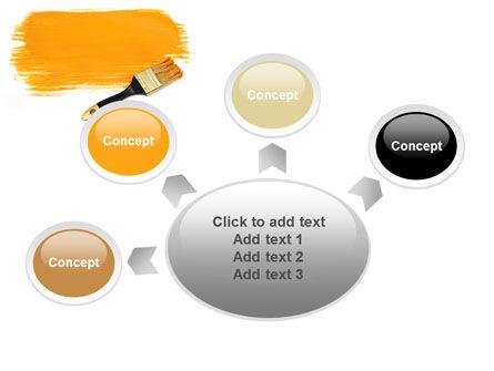 Yellow Paint Brush PowerPoint Template Slide 7