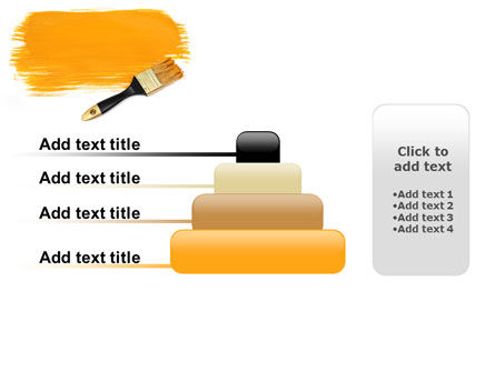 Yellow Paint Brush PowerPoint Template Slide 8