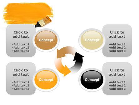 Yellow Paint Brush PowerPoint Template Slide 9