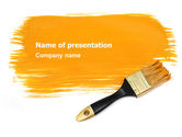 Careers/Industry: Yellow Paint Brush PowerPoint Template #07536