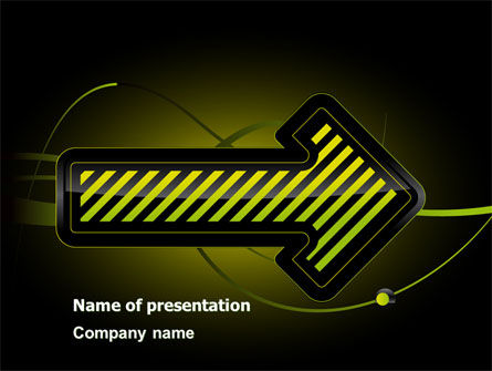 Yellow Pointer PowerPoint Template, 07537, Business Concepts — PoweredTemplate.com