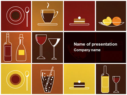 Food Menu Powerpoint Template Backgrounds