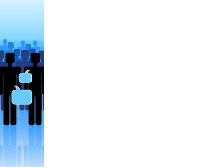 Public Opinion PowerPoint Template, Slide 3, 07539, Telecommunication — PoweredTemplate.com