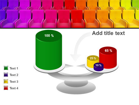 Spectrum Colored Chairs PowerPoint Template Slide 10