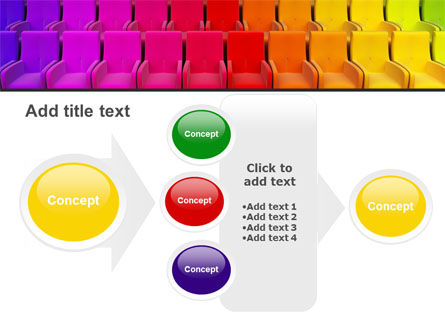 Spectrum Colored Chairs PowerPoint Template Slide 17