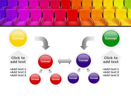Spectrum Colored Chairs PowerPoint Template Slide 19