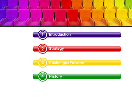 Spectrum Colored Chairs PowerPoint Template Slide 3