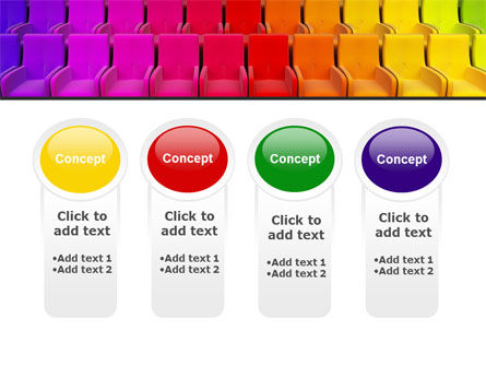 Spectrum Colored Chairs PowerPoint Template Slide 5