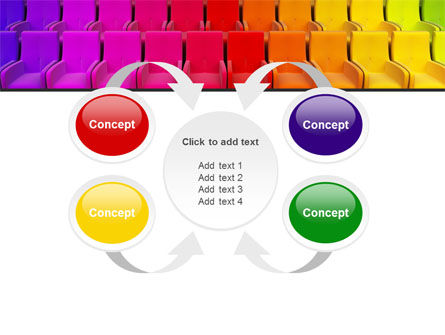 Spectrum Colored Chairs PowerPoint Template Slide 6