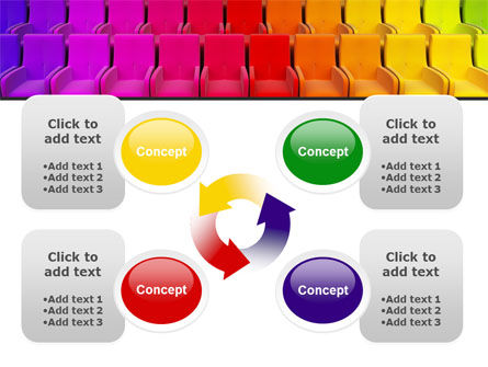 Spectrum Colored Chairs PowerPoint Template Slide 9