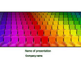 Careers/Industry: Spectrum Colored Chairs PowerPoint Template #07540