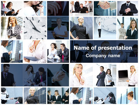 Careers/Industry: Office Life Collage PowerPoint Template #07541