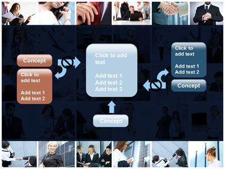 Office Life Collage PowerPoint Template Slide 13