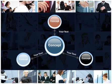 Office Life Collage PowerPoint Template Slide 14