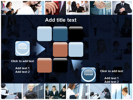 Office Life Collage PowerPoint Template Slide 16