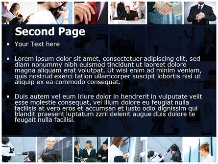 Office Life Collage PowerPoint Template Slide 2